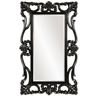 Whittington 71 X 44 inch Glossy Black Wall Mirror, Rectangle