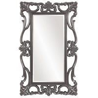 Whittington 71 X 44 inch Glossy Charcoal Gray Wall Mirror, Rectangle