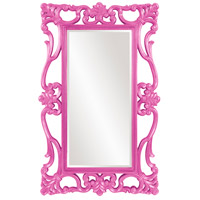 Whittington 71 X 44 inch Glossy Hot Pink Wall Mirror, Rectangle