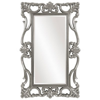 Whittington 71 X 44 inch Glossy Nickel Wall Mirror, Rectangle