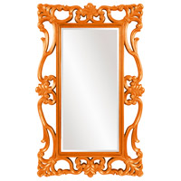Whittington 71 X 44 inch Glossy Orange Lacquer Wall Mirror, Rectangle