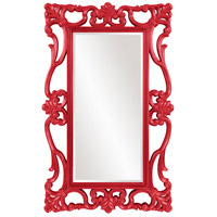 Whittington 71 X 44 inch Glossy Red Wall Mirror, Rectangle