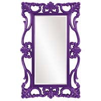 Whittington 71 X 44 inch Glossy Purple Wall Mirror, Rectangle