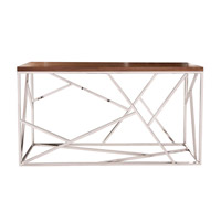 Howard Elliott Collection 48002 Angles 16 inch Stainless Steel Coffee Table