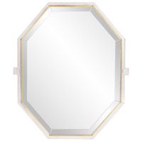 Howard Elliott Collection 48056 Axel 28 X 22 inch Silver Stainless Steel Trim Wall Mirror, Octagonal