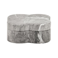 Howard Elliott Collection 49018 Signature 8 X 8 inch Gray and White Decorative Box, Faux Marble