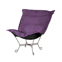 Howard Elliott Collection 500-223 Bella Deep Eggplant Accent Chair photo thumbnail