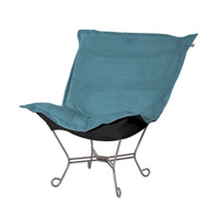 Howard Elliott Collection 500-250 Mojo Turquoise Blue Accent Chair photo thumbnail