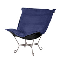 Howard Elliott Collection 500-972 Bella Rich Royal Blue Accent Chair photo thumbnail