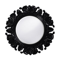 Howard Elliott Collection 51177BL Anita 44 X 44 inch Glossy Black Lacquer Wall Mirror, Round photo thumbnail