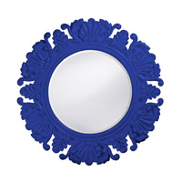 Howard Elliott Collection 51177RB Anita 44 X 44 inch Royal Blue Wall Mirror, Round photo thumbnail