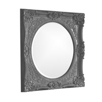 Howard Elliott Collection 51207CH Monique 34 X 30 inch Charcoal Gray Wall Mirror, Rectangle photo thumbnail