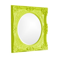 Howard Elliott Collection 51207MG Monique 34 X 30 inch Green Wall Mirror, Rectangle photo thumbnail