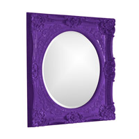 Howard Elliott Collection 51207RP Monique 34 X 30 inch Royal Purple Wall Mirror, Rectangle photo thumbnail