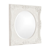 Howard Elliott Collection 51207W Monique 34 X 30 inch White Wall Mirror, Rectangle photo thumbnail