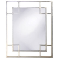 Howard Elliott Collection 51219 Lois 53 X 43 inch Platinum Silver Leaf Wall Mirror, Rectangle photo thumbnail