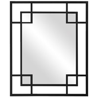 Howard Elliott Collection 51219BL Lois 53 X 43 inch Glossy Black Wall Mirror, Rectangle photo thumbnail