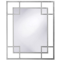 Howard Elliott Collection 51219N Lois 53 X 43 inch Nickel Wall Mirror, Rectangle photo thumbnail