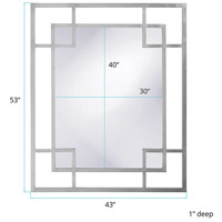 Howard Elliott Collection 51219N Lois 53 X 43 inch Nickel Wall Mirror, Rectangle alternative photo thumbnail