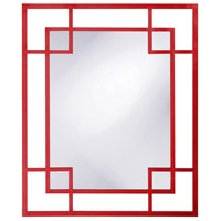 Howard Elliott Collection 51219R Lois 53 X 43 inch Red Wall Mirror, Rectangle photo thumbnail