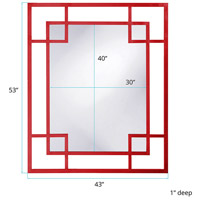 Howard Elliott Collection 51219R Lois 53 X 43 inch Red Wall Mirror, Rectangle alternative photo thumbnail