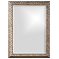 Malia 28 X 20 inch Silver Leaf Wall Mirror, Rectangle, Textured