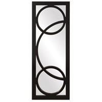 Howard Elliott Collection 51260 Dynasty 38 X 15 inch Black Lacquer Wall Mirror, Rectangle photo thumbnail