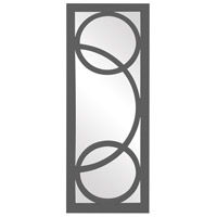 Dynasty 38 X 15 inch Charcoal Gray Wall Mirror, Rectangle