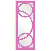 Dynasty 38 X 15 inch Hot Pink Wall Mirror, Rectangle