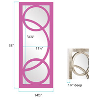 Howard Elliott Collection 51261HP Dynasty 38 X 15 inch Hot Pink Wall Mirror, Rectangle alternative photo thumbnail