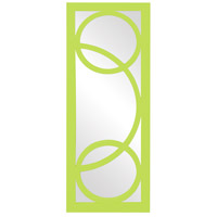 Dynasty 38 X 15 inch Green Wall Mirror, Rectangle
