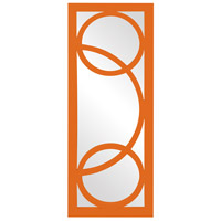 Howard Elliott Collection 51261O Dynasty 38 X 15 inch Orange Wall Mirror, Rectangle photo thumbnail