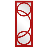 Dynasty 38 X 15 inch Red Wall Mirror, Rectangle