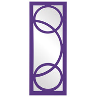 Dynasty 38 X 15 inch Royal Purple Wall Mirror, Rectangle