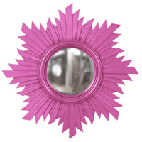 Howard Elliott Collection 51268HP Euphoria 21 X 21 inch Hot Pink Wall Mirror, Round photo thumbnail