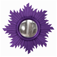 Howard Elliott Collection 51268RP Euphoria 21 X 21 inch Royal Purple Wall Mirror, Round photo thumbnail