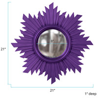 Howard Elliott Collection 51268RP Euphoria 21 X 21 inch Royal Purple Wall Mirror, Round alternative photo thumbnail
