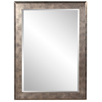 Howard Elliott Collection 51271 Charlize 42 X 30 inch Silver Leaf Wall Mirror, Rectangle, Pewter and Black Highlights photo thumbnail