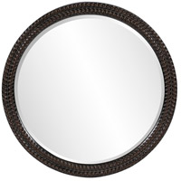 Howard Elliott Collection 5128 Amelia 32 X 32 inch Antique Black Wall Mirror, Round photo thumbnail