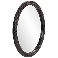 Howard Elliott Collection 5128 Amelia 32 X 32 inch Antique Black Wall Mirror, Round alternative photo thumbnail