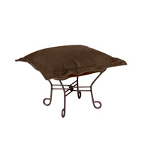 Howard Elliott Collection 515-220 Bella 18 inch Deep Chocolate Brown Ottoman photo thumbnail