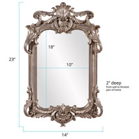 Howard Elliott Collection 52019 Eva 23 X 14 inch Antique Silver Leaf Wall Mirror alternative photo thumbnail