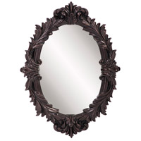Howard Elliott Collection 52027 Diana 23 X 17 inch Antiqued Oil Rubbed Bronze Wall Mirror, Oval photo thumbnail