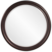George 33 X 25 inch Oil Rubbed Bronze Wall Mirror, Round