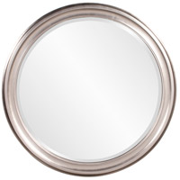 George 36 X 36 inch Brushed Nickel Wall Mirror, Round
