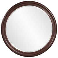 Howard Elliott Collection 53046 George 33 X 25 inch Wenge Brown Wall Mirror, Round photo thumbnail