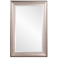 Howard Elliott Collection 53048 George 33 X 25 inch Bright Silver Leaf Wall Mirror photo thumbnail