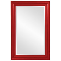 Howard Elliott Collection 53049R George 36 X 24 inch Glossy Red Wall Mirror photo thumbnail