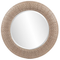 Howard Elliott Collection 53063 Bergman 32 X 32 inch Brushed Silver Leaf Wall Mirror, Ribbon, Small photo thumbnail