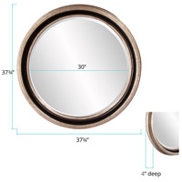 Howard Elliott Collection 53066 Cole 37 X 37 inch Champagne Silver Leaf Wall Mirror, Round alternative photo thumbnail